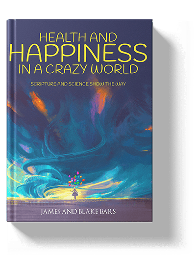 book cover for health and happiness in a crazy world